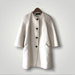 Zara Cream Wool Coat
